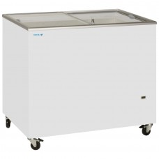 Tefcold IC300SC: 1m Sliding Flat Glass Lid Chest Freezer - 296Ltr