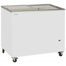 Tefcold IC300SC: 1m Sliding Flat Glass Lid Chest Freezer - 296Ltr