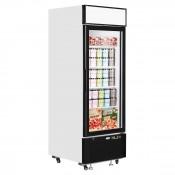 Interlevin LGF2500: LOW-ENERGY Glass Door Display Freezer with LED Lighting - 496Ltr