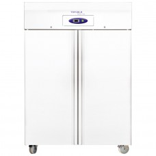Tefcold RF1010W: 976Ltr Stainless Steel Double Door Upright Freezer - Medium to Heavy Duty & White Finish