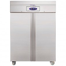 Tefcold RF1010: 976Ltr Stainless Steel Double Door Upright Freezer - Medium to Heavy Duty