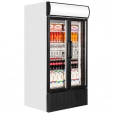Tefcold FSC1000H: Hinged Glass Door Display Fridge 796 ltr.