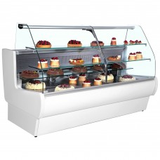 Frilixa Tejo II 11C: 1.1m Curved Serve Over Counter for Patisserie