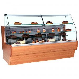 Frilixa Tejo II 30CW: 3.0m Wood Serve Over Counter for Patisserie
