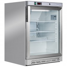Tefcold UR200GS: Stainless Steel Undercounter Glass Door Fridge
