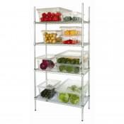Vogue L927: Food Safe Steel Storage Rack with 4 shelves - 915Wx457Dx1840Hmm