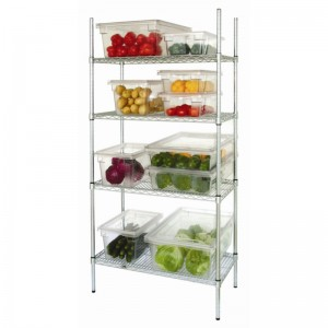 Vogue L927: Food Safe Steel Storage Rack with 4 shelves - 915Wx457Dx1840Hmm