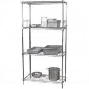 Vogue L928: Food Safe Steel Storage Rack with 4 shelves - 1220Wx457Dx1840Hmm