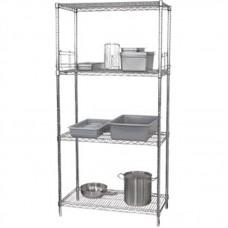 Vogue U257: Food Safe Steel Storage Rack with 4 shelves - 1220Wx610Dx1840Hmm