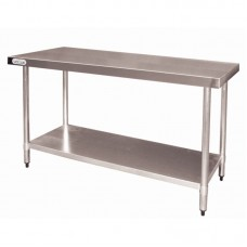 Vogue T376: 1.2m Chefs Steel Work Table without upstand