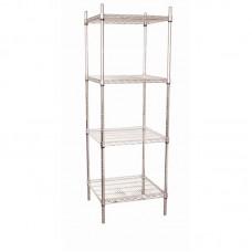 Vogue U884: Food Safe Steel Storage Rack with 4 shelves - 610Wx610Dx1830Hmm