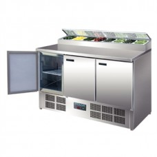 Polar G605: 3 Door Refrigerated Salad and Pizza Preparation Counter