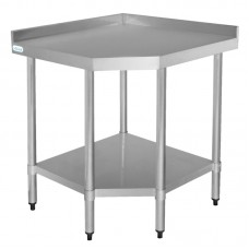 Vogue CB907: Stainless Steel Chefs Preparation Table, Corner Unit  - 600 mm Deep