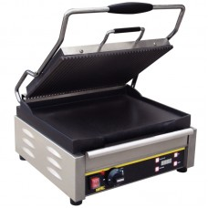 Buffalo L530: Large Single Contact Grill - Ribbed Top Plate