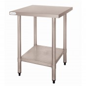 Vogue T389: 0.6m Chefs Steel Work Table without Upstand