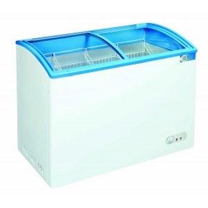 Coolpoint CX621: 1mt Curved glass lid chest freezer Ideal for ice cream