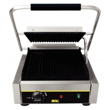 Buffalo DM903: Large Single Contact Grill - Ribbed Plates