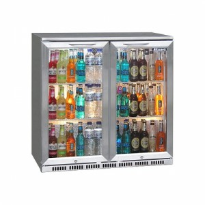 Blizzard BAR2SS: Stainless Steel Finish Back Bar Beer Chiller - ECA Approved