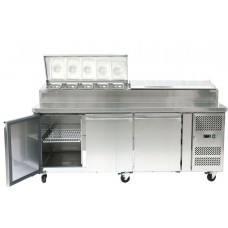 Artikcold SH3000-700 Refrigerated Food Preparation Counter - 9 x 1/3GN