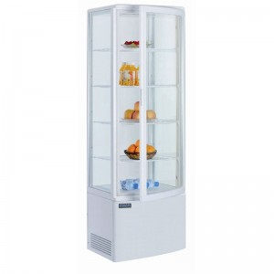 Polar CB509: 235Ltr Curved Glass Door Display Cooler - White