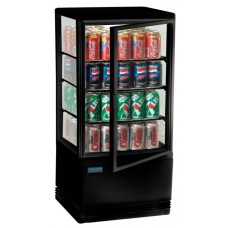 Polar G211: 68Ltr Chilled Countertop Display Cabinet - Black