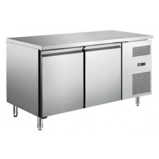 Procool R2DR: Slimline 2 Door Steel Refrigerated Food Preparation Counter with side mounted condenser