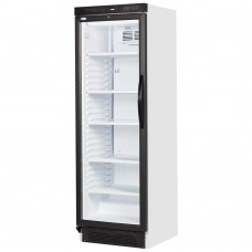 Interlevin SC381B: Left Hand Opening Glass Door Fridge 372 ltr