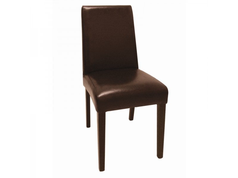 9766c1df11f Bolero GF955  Faux Leather Dining Chairs Dark Brown (Pack of 2)