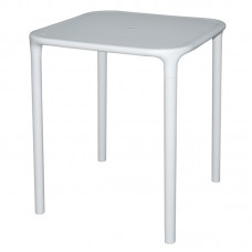 Bolero GG665: White Square Polypropylene Table