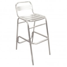 Bolero U503: Aluminium Bar Stools (Pack of 4)